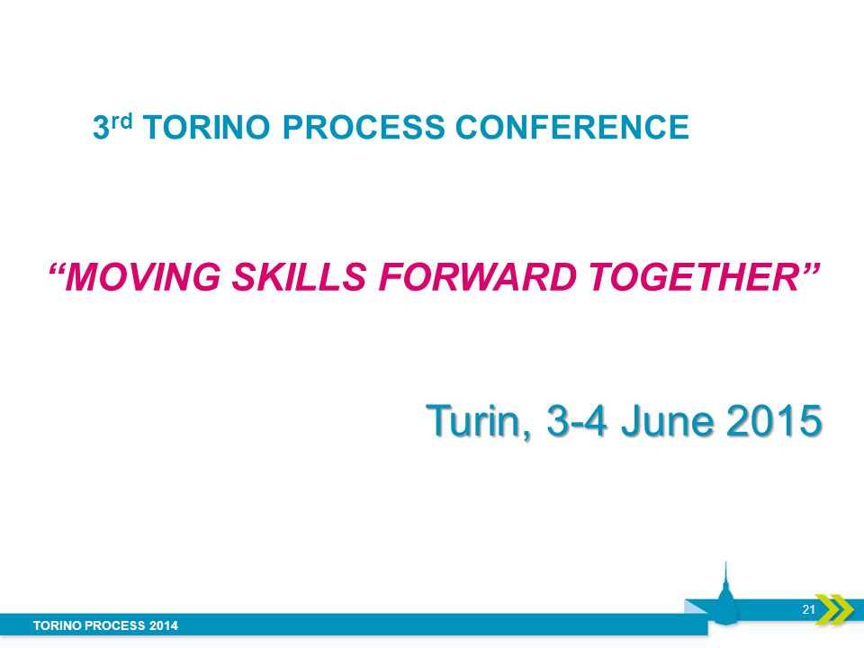 3rd TORINO PROCESS CONFERENCE