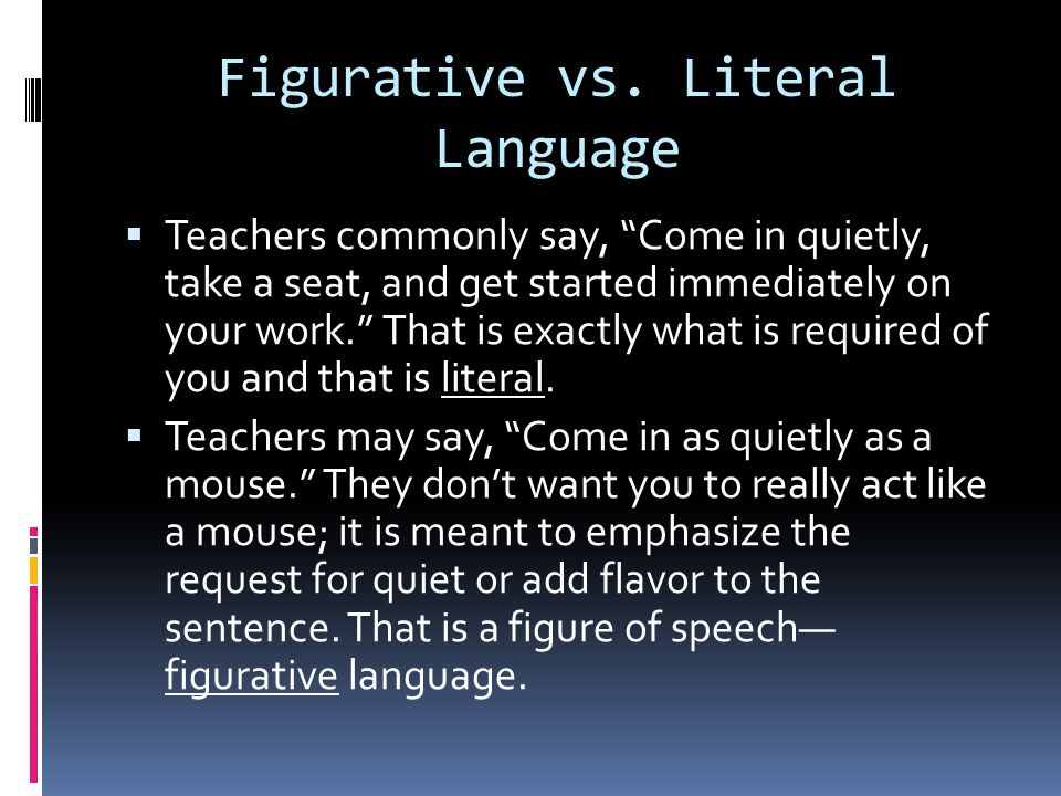 literal vs figurative blindness essay We recently finished our unit on figurative language and poetry and my kids voted this as one of their favorite activities each of my students picked an idiom that they wanted to illustrate and as they chose they had to tell me what their idiom meant.