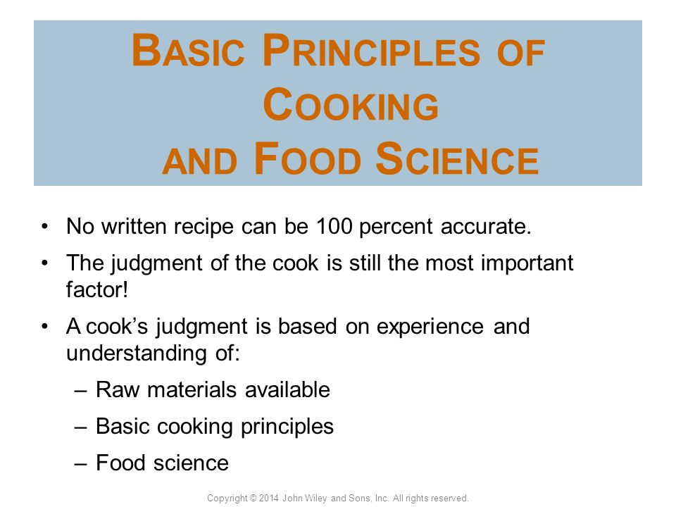 Basic principles of cooking and food science ppt video online download basic principles of cooking and food science thecheapjerseys Choice Image