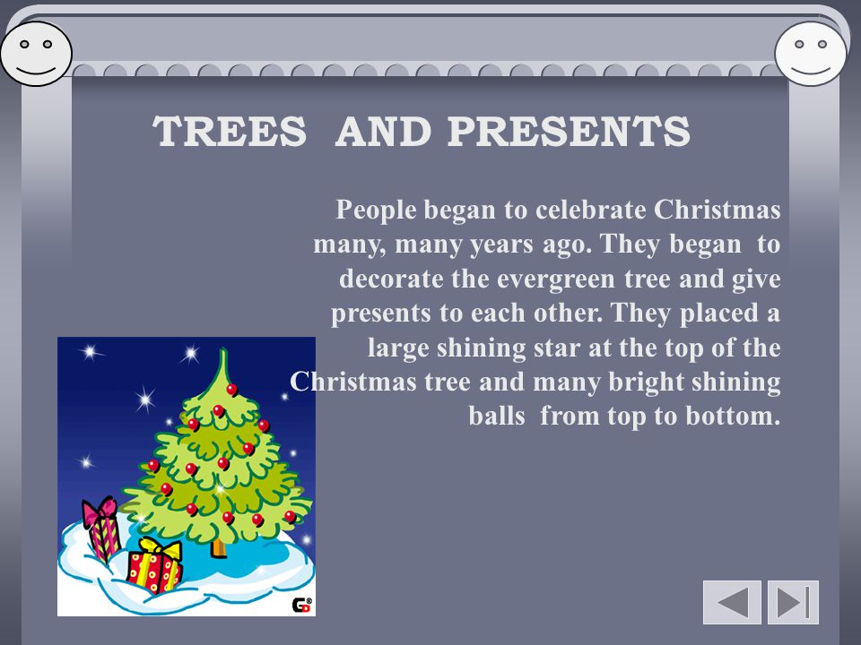 TREES AND PRESENTS