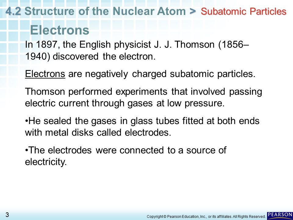 Electrons Subatomic Particles