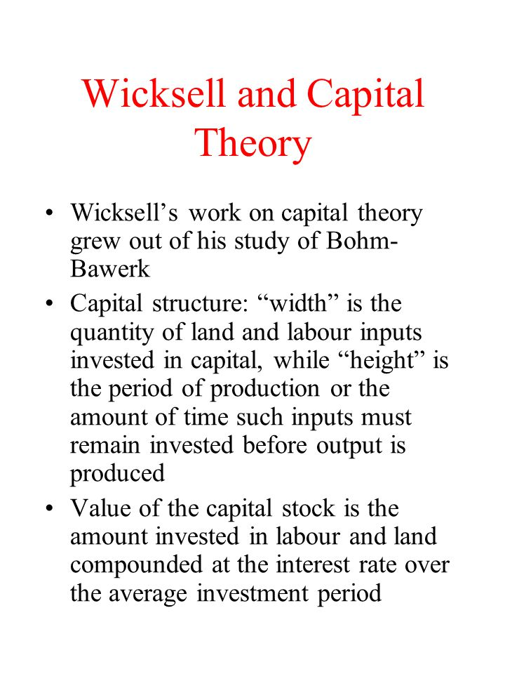 Wicksell and Capital Theory