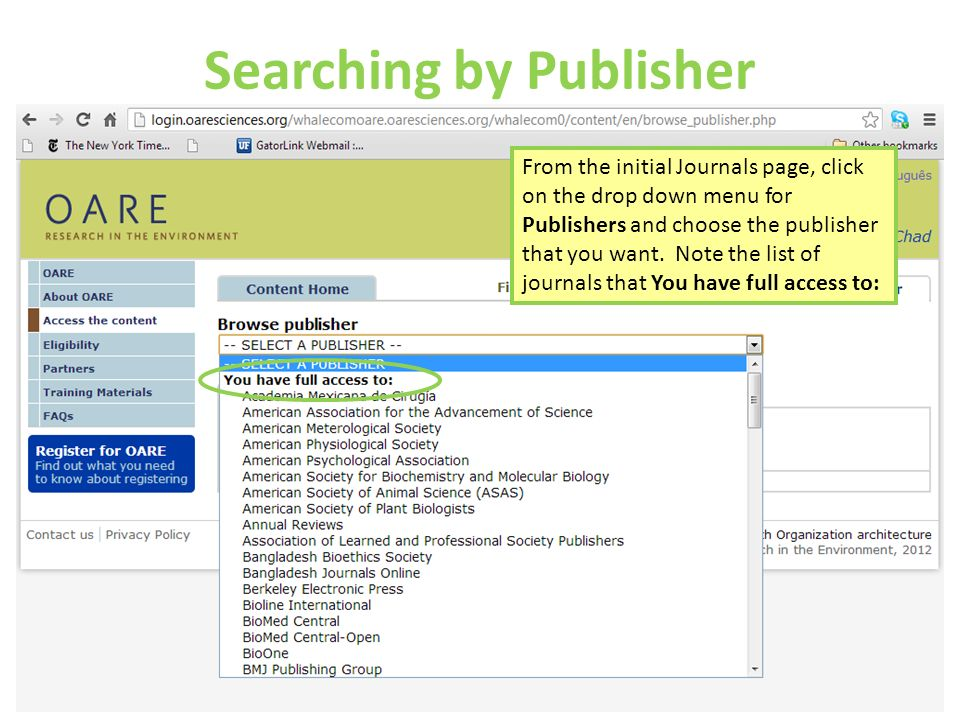 Searching by Publisher