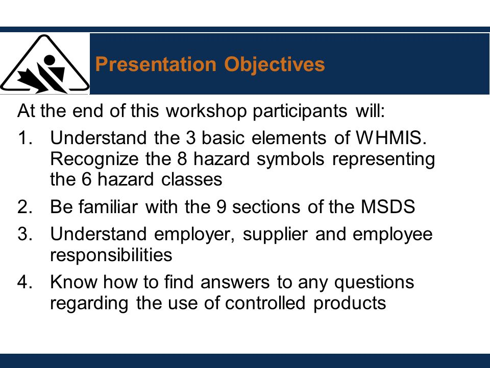Whmis Presented By Name Title Date Ppt Video Online Download