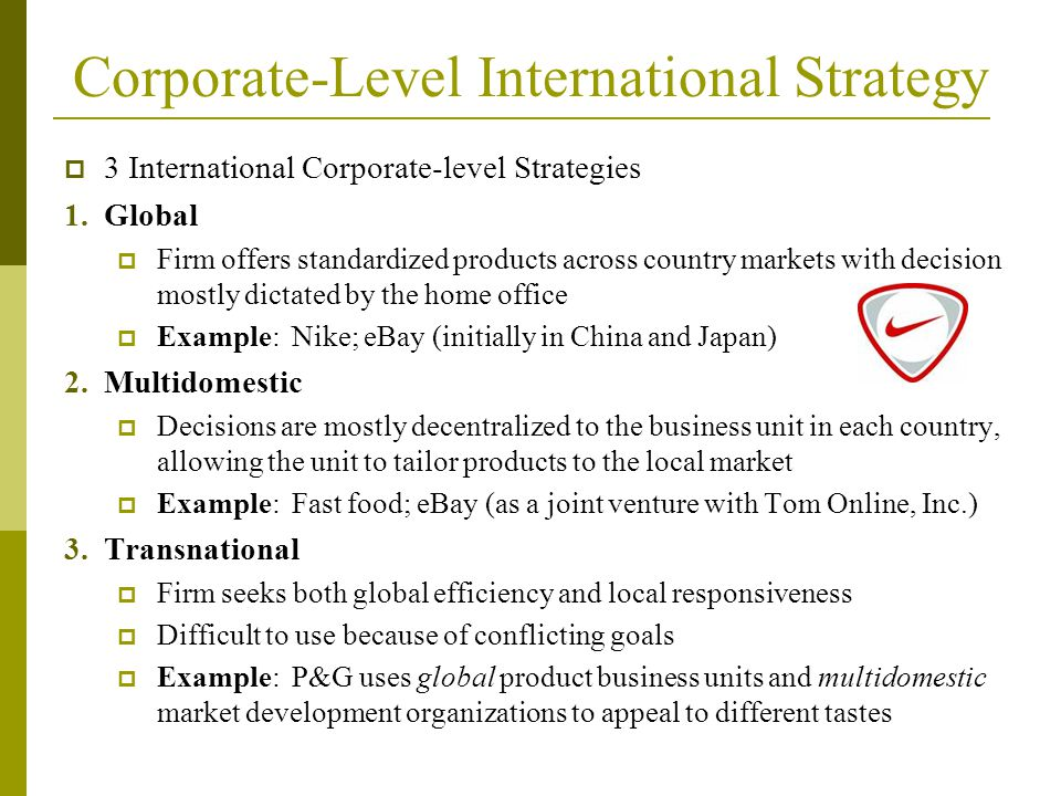 Chapter 8 International Strategy Diane M Sullivan PhD ppt video