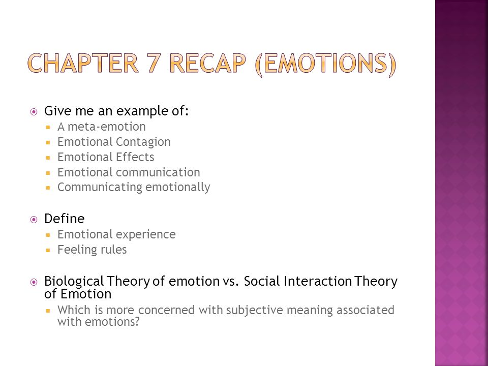 Chapter 7 Recap Emotions Ppt Download