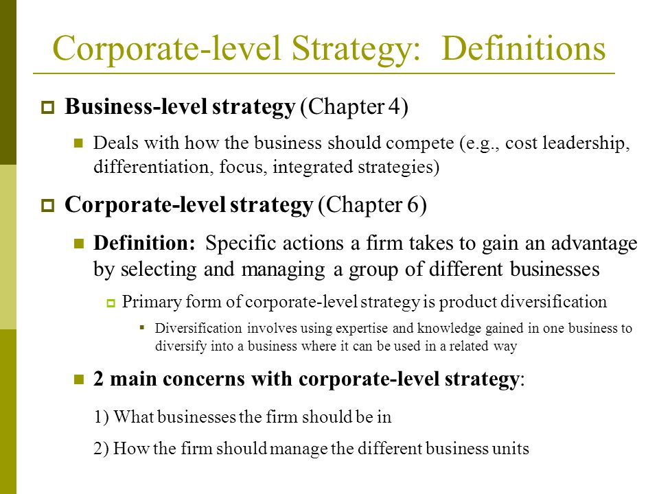 Chapter 6 CorporateLevel Strategy Diane M Sullivan PhD ppt video