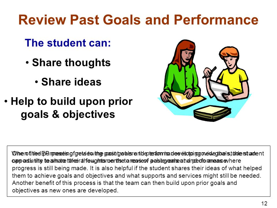 Review Past Goals and Performance