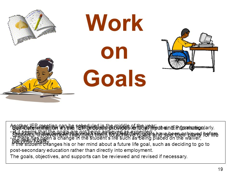Work on Goals ANIMATION – no clicks – the pen writes on the book.