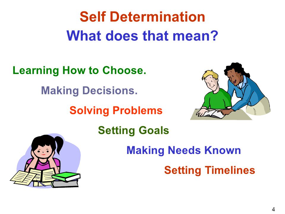 Self Determination What does that mean