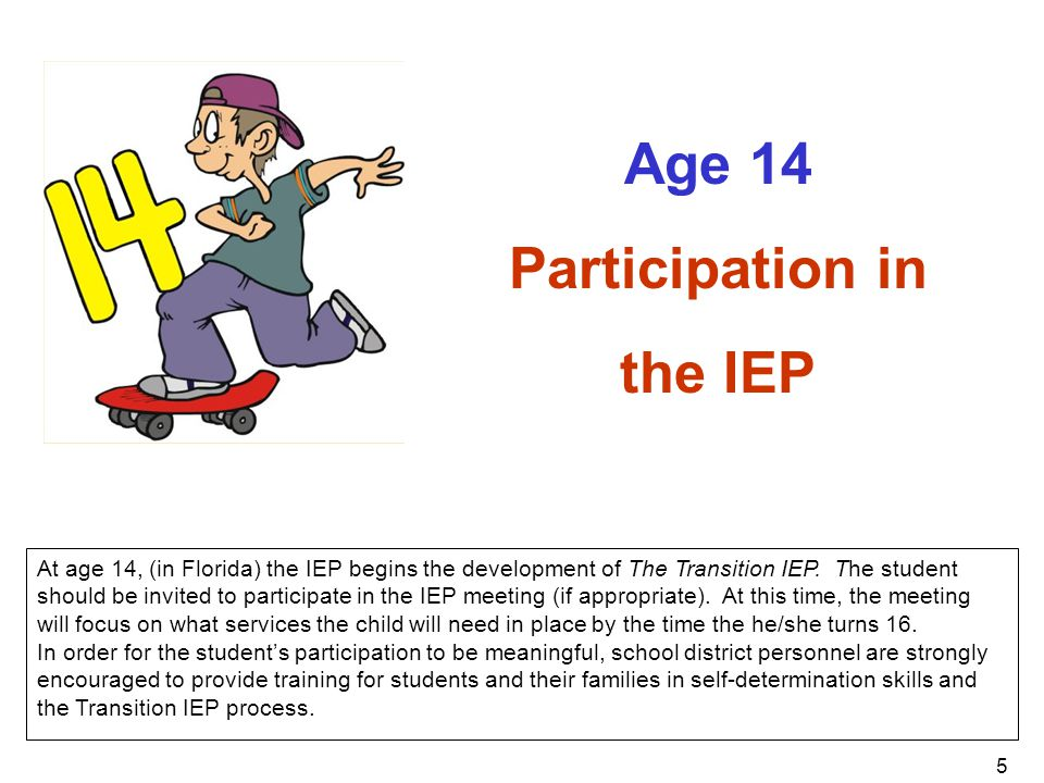 Age 14 Participation in the IEP