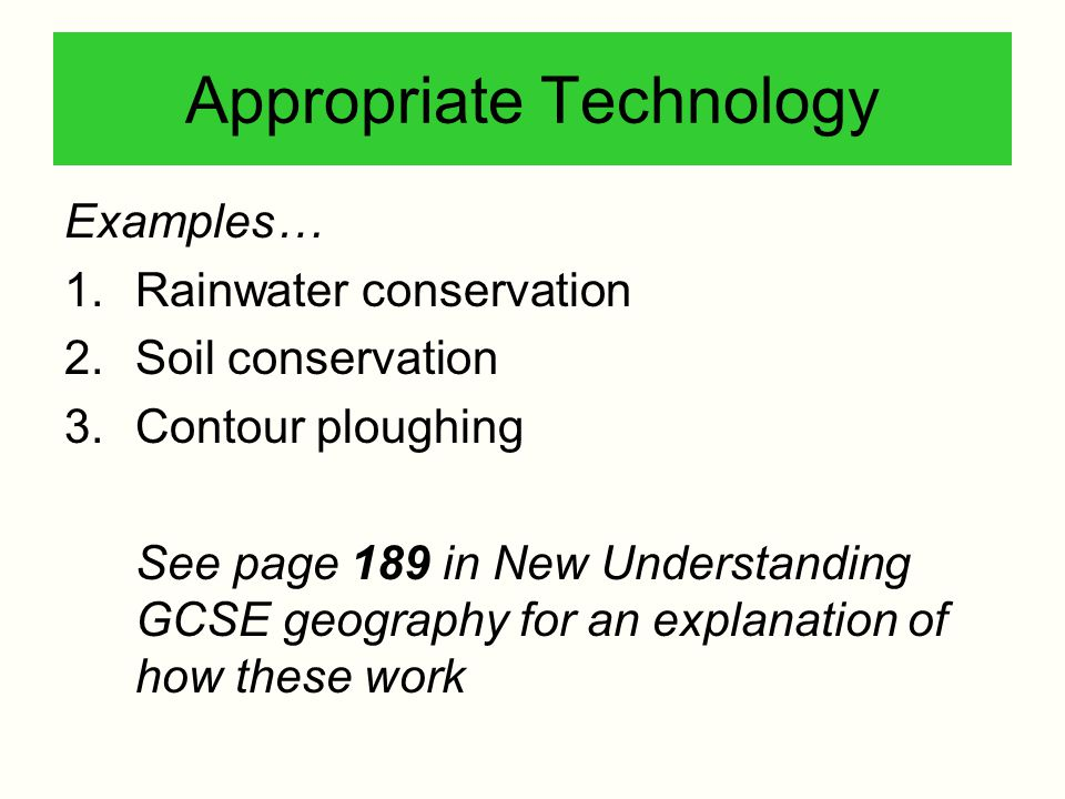 appropriate technology examples