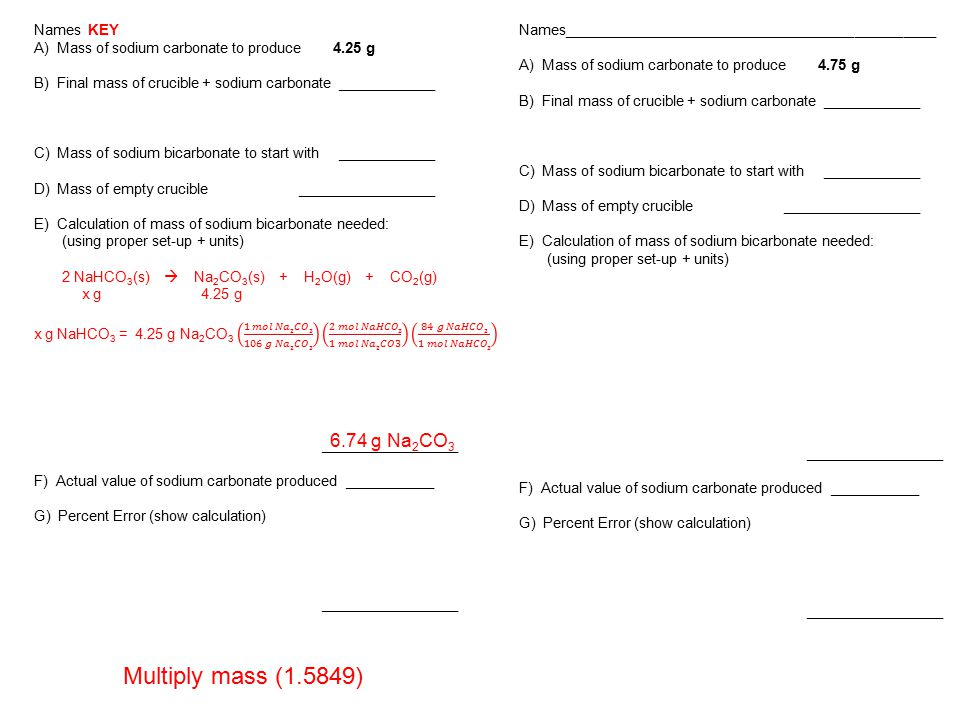 Performance Assessment Stoichiometry - ppt download