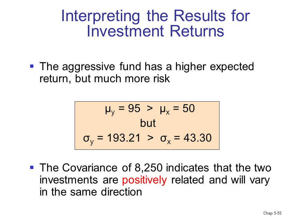 Interpreting the Results for Investment Returns