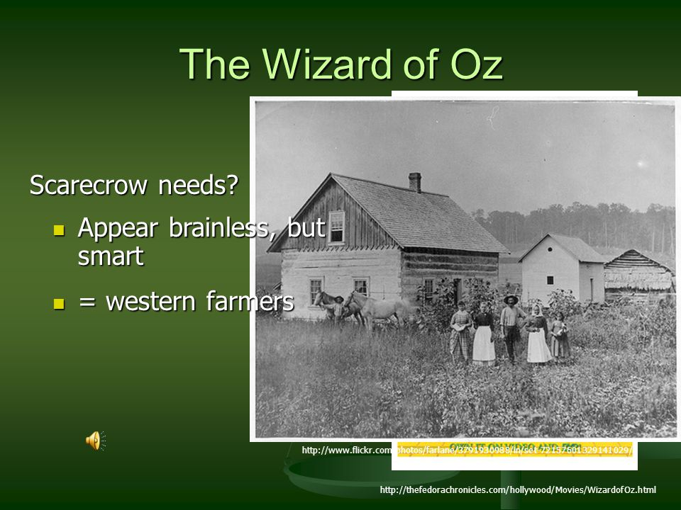 The Wizard of Oz Scarecrow needs Appear brainless, but smart