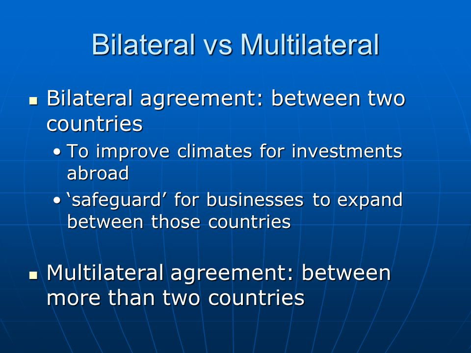 Regional Economic Integrations And Cooperative Agreements Ppt