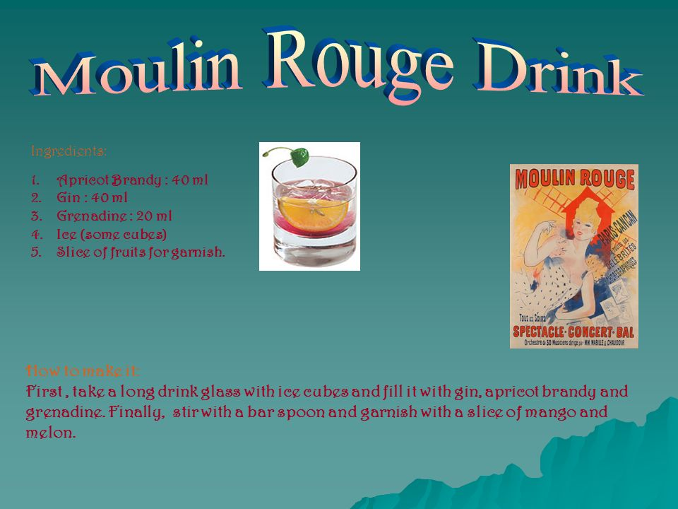 Moulin Rouge Drink How to make it: