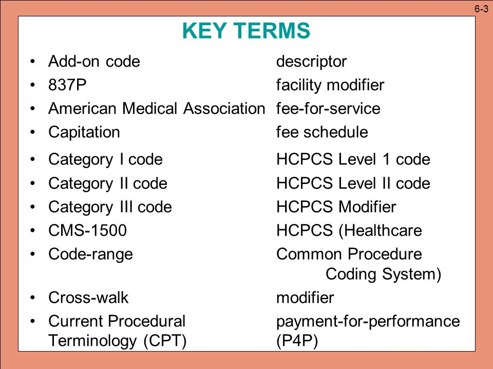 hcpcs modifiers essay Code modifiers to identify the practitioner performing the service • for example, during an office visit, an acupuncture physician assessed the health status of a new client and developed a treatment plan, a process that took 45 minutes.