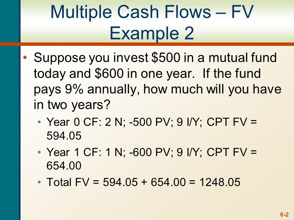 multiple cash flows future value example ppt download