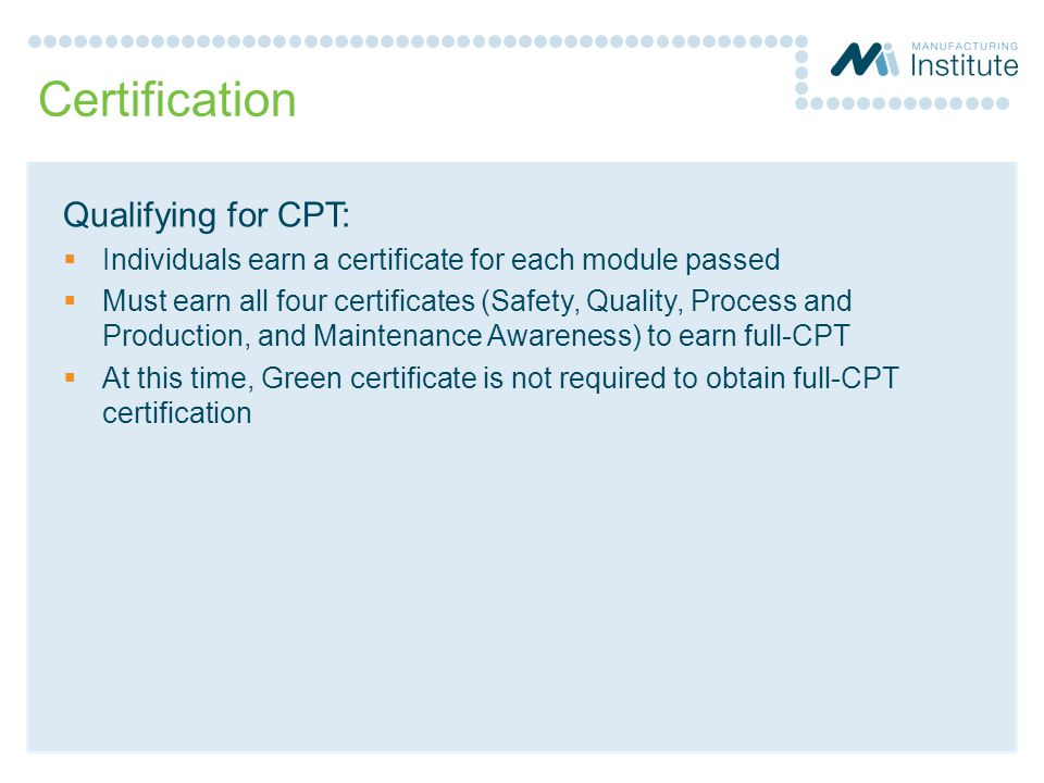 Manufacturing Skill Standards Council Mssc Certified Production