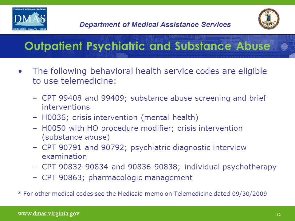 Outpatient Psychiatric And Substance Abuse Services Ppt