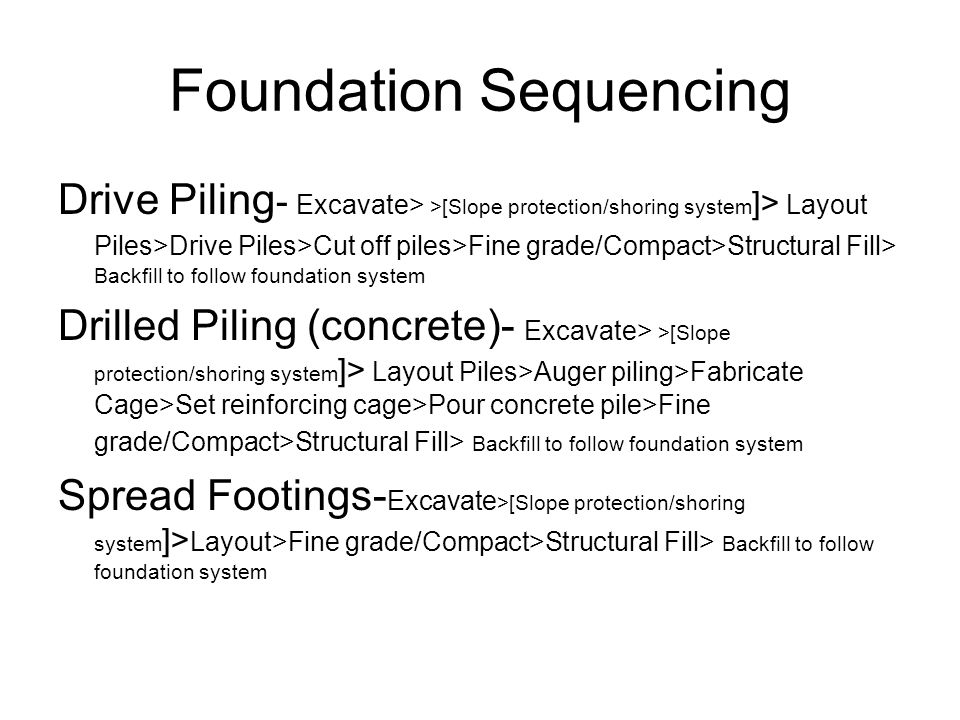 Foundation Sequencing