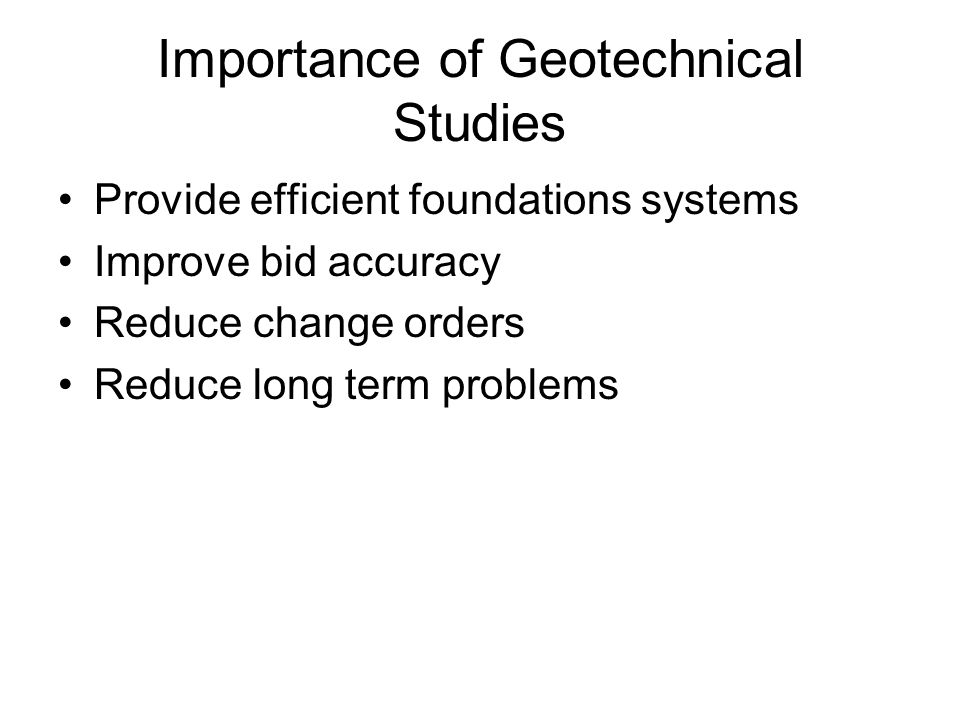 Importance of Geotechnical Studies