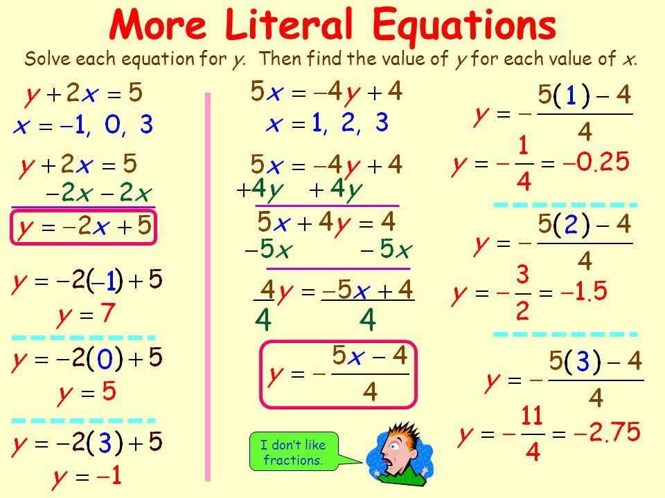 This Situation Can Be Modeled Using A Literal Equation Ppt Video