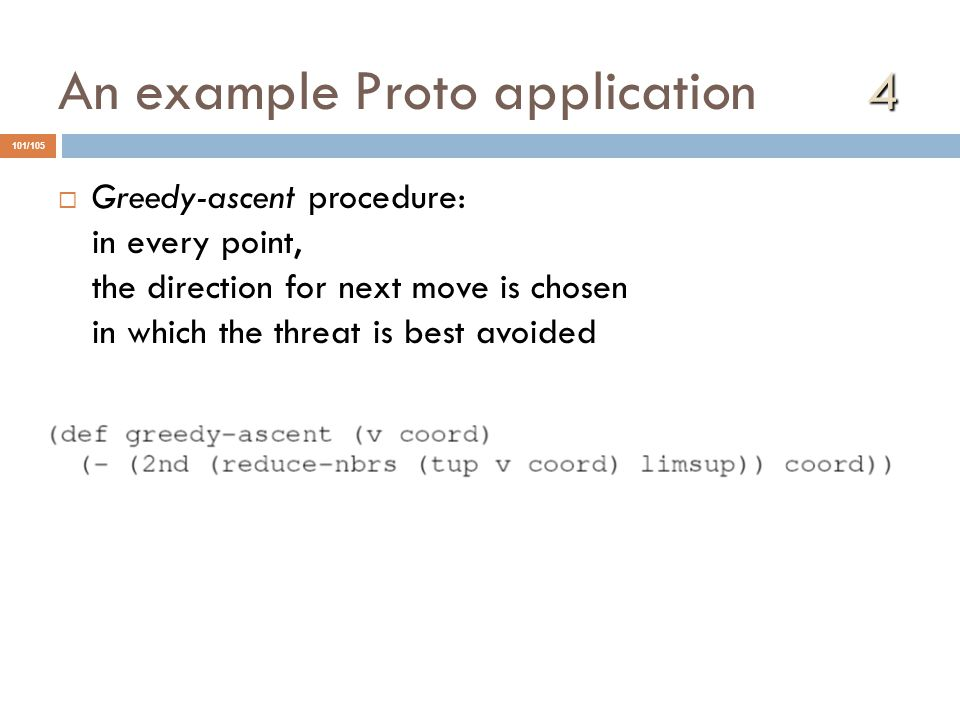 An example Proto application 4