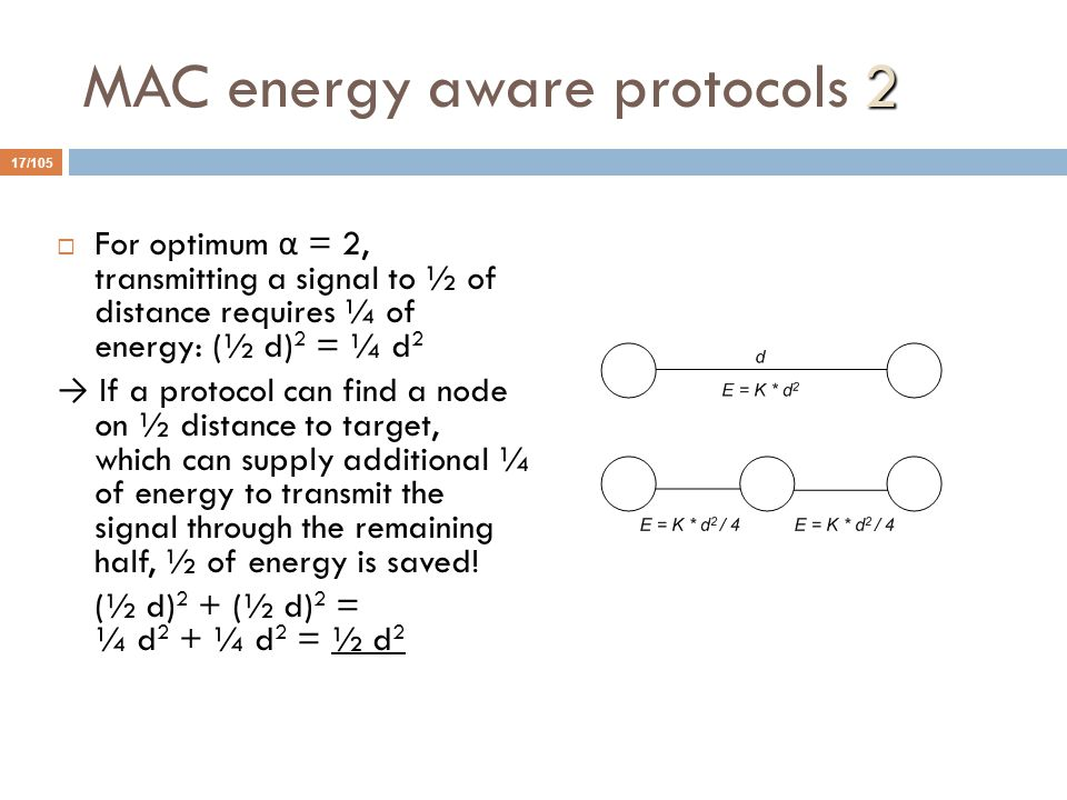 MAC energy aware protocols 2