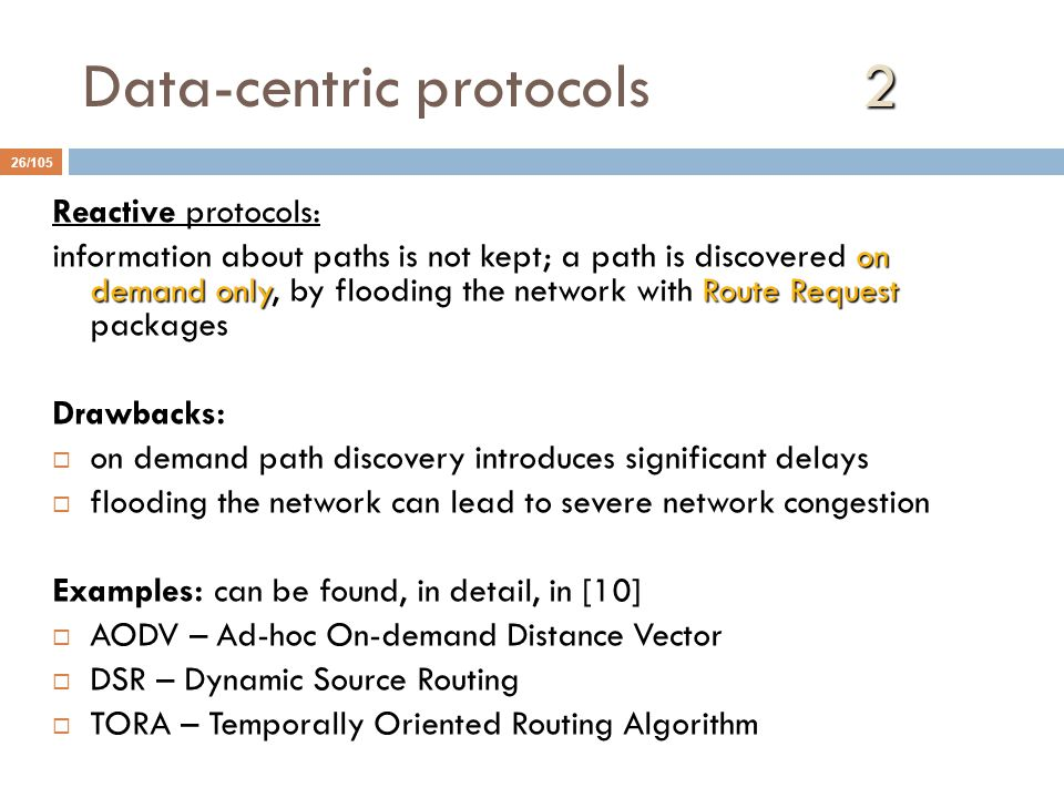 Data-centric protocols 2