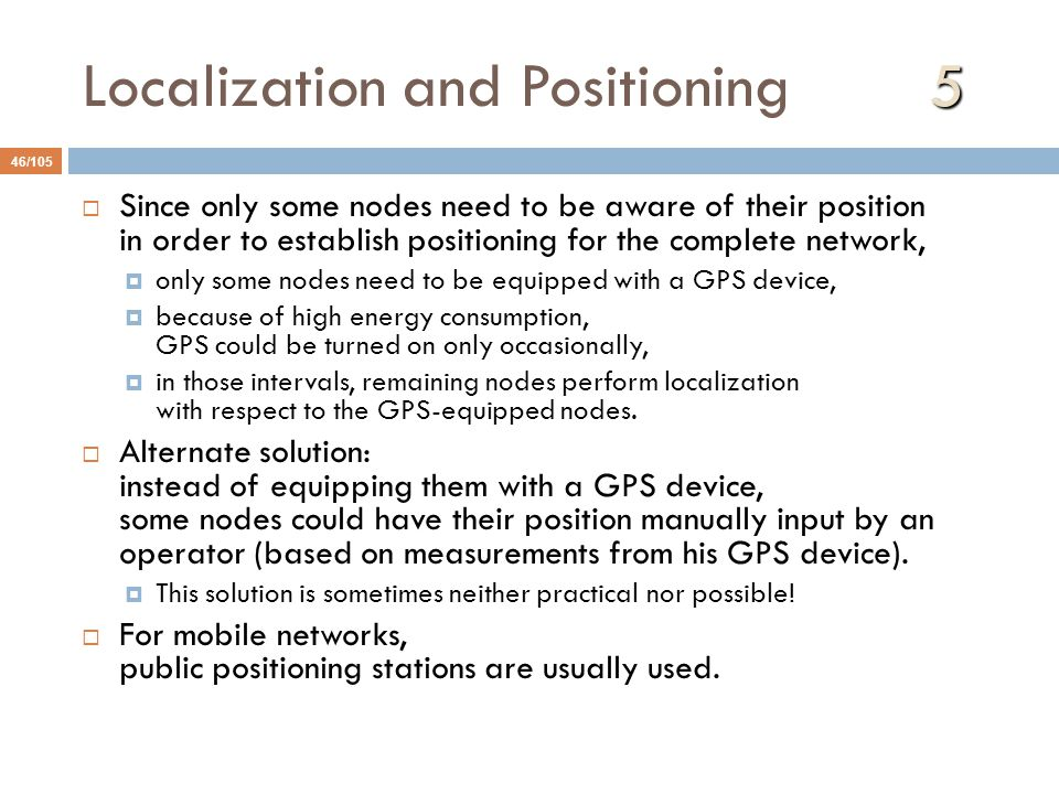 Localization and Positioning 5