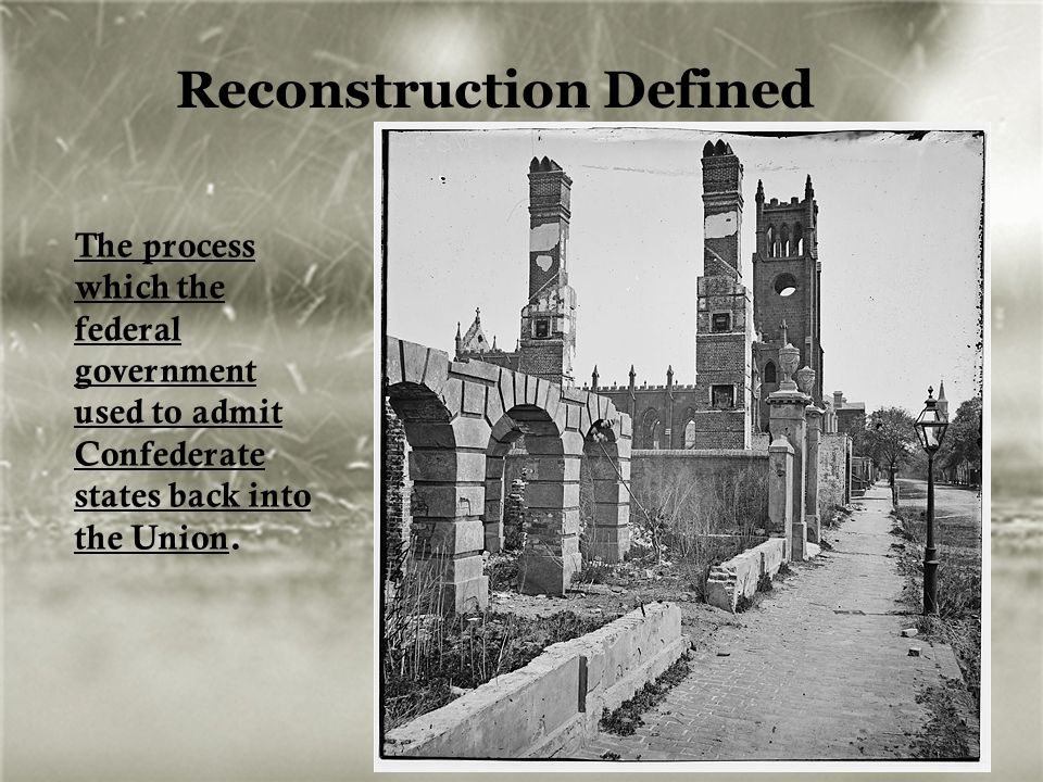 Reconstruction Defined