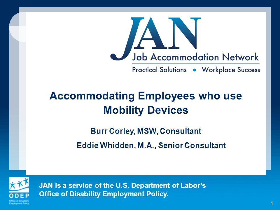 Accommodating Employees who use Burr Corley, MSW, Consultant