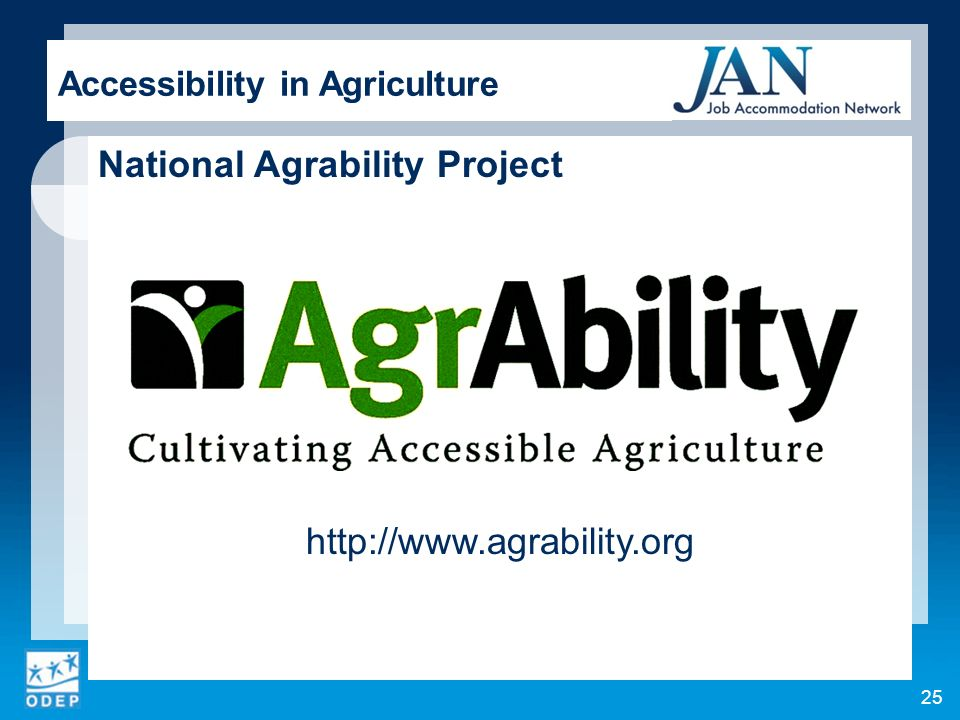Accessibility in Agriculture