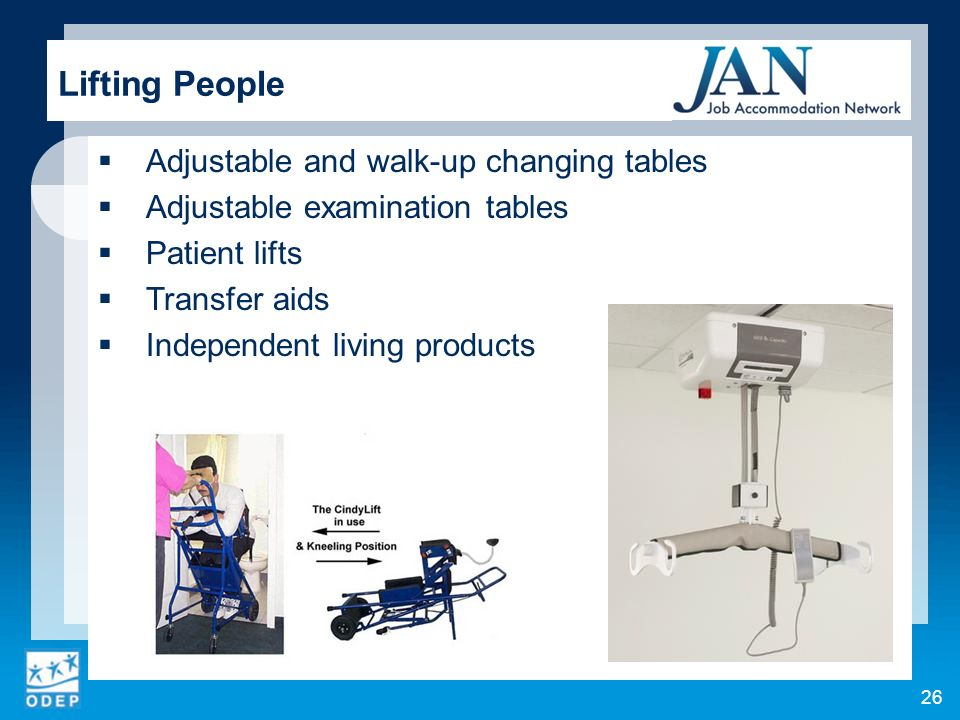 Lifting People Adjustable and walk-up changing tables