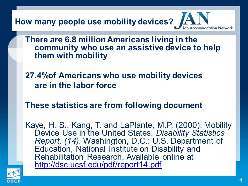 How many people use mobility devices