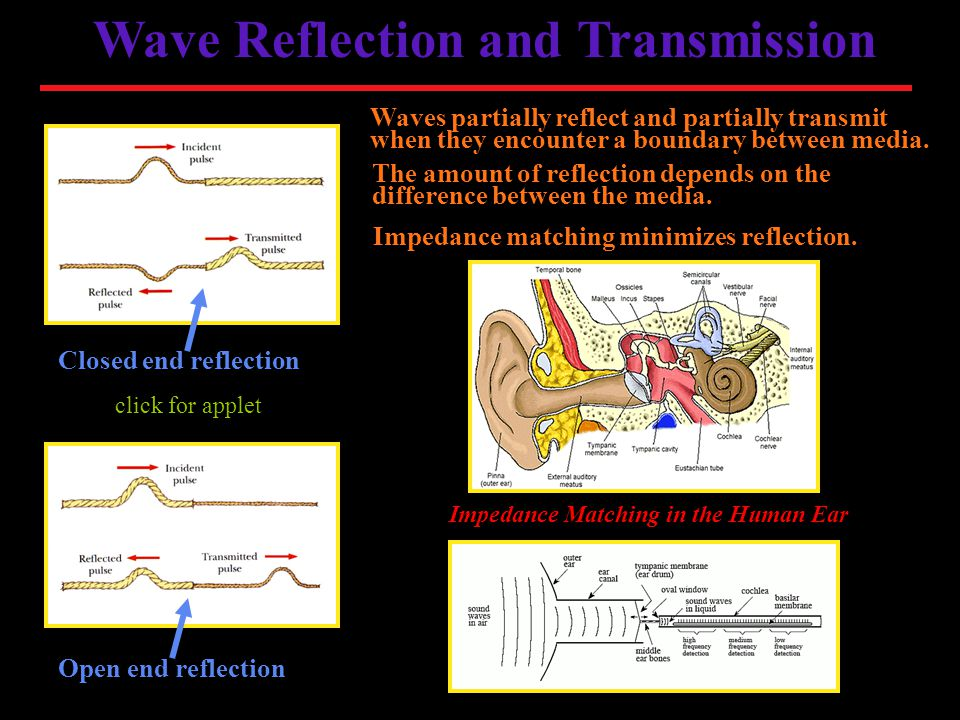 Wave Reflection and Transmission Impedance Matching in the Human Ear