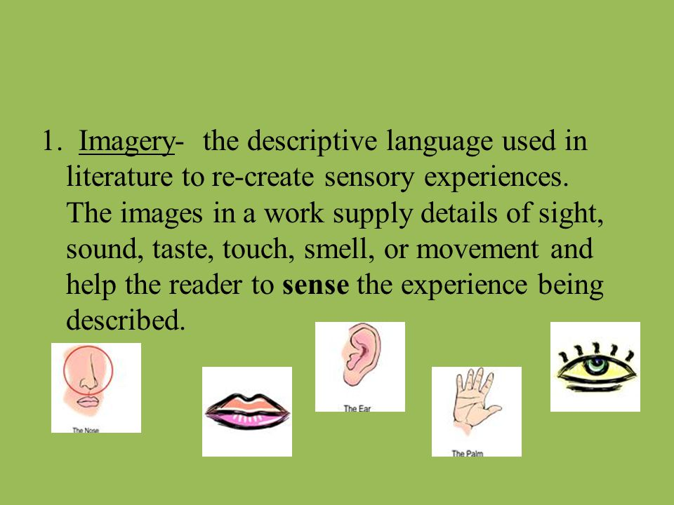 sensory images in literature