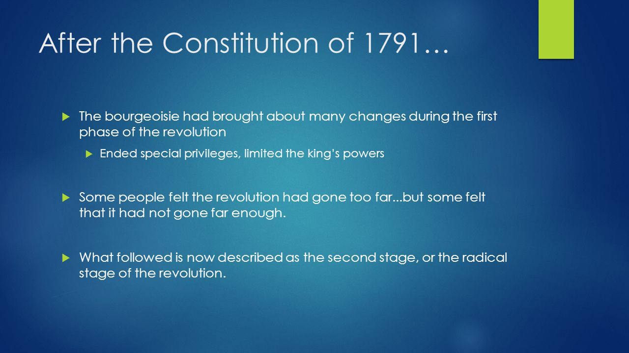 After the Constitution of 1791…