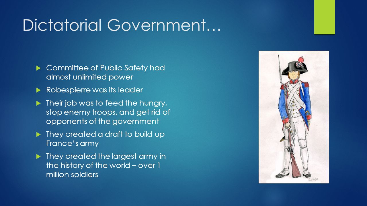 Dictatorial Government…