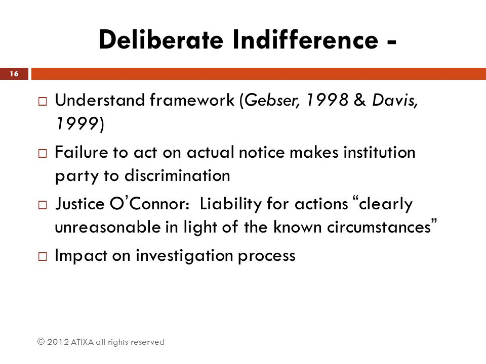 Deliberate Indifference To Hostile >> Atixa Title Ix Investigator Training Two Day Training Certification
