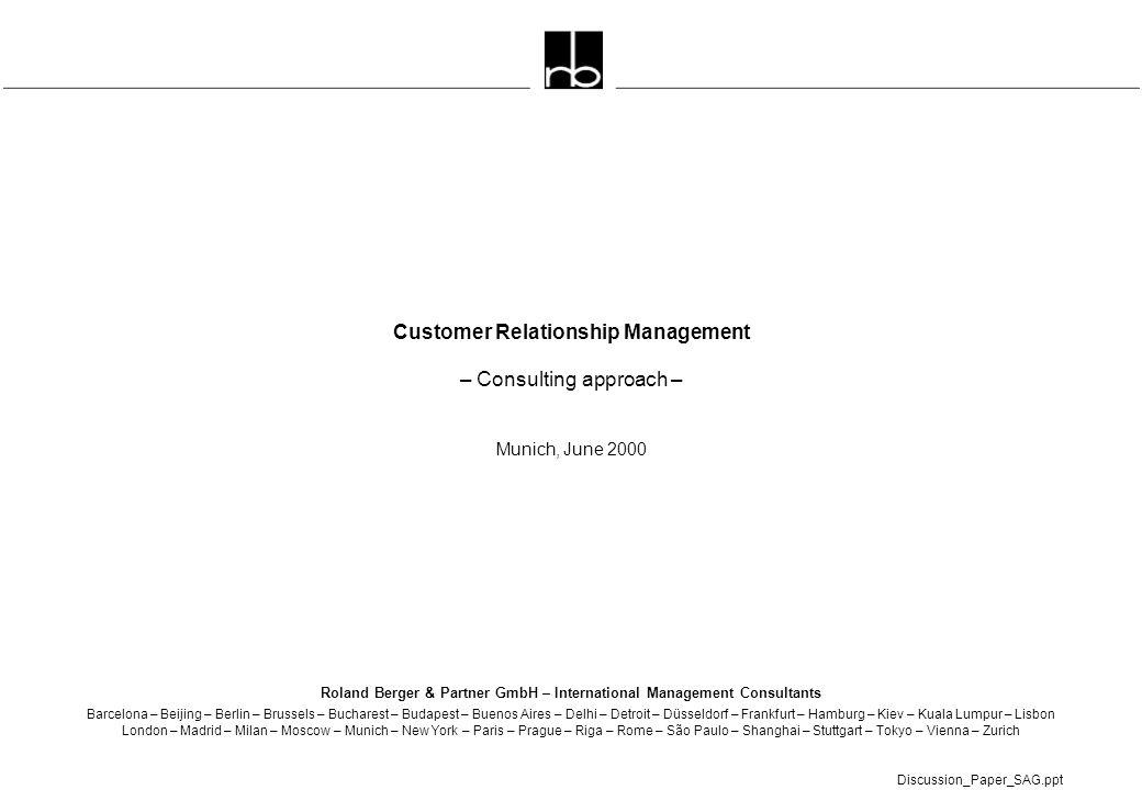 Roland Berger & Partner GmbH – International Management Consultants