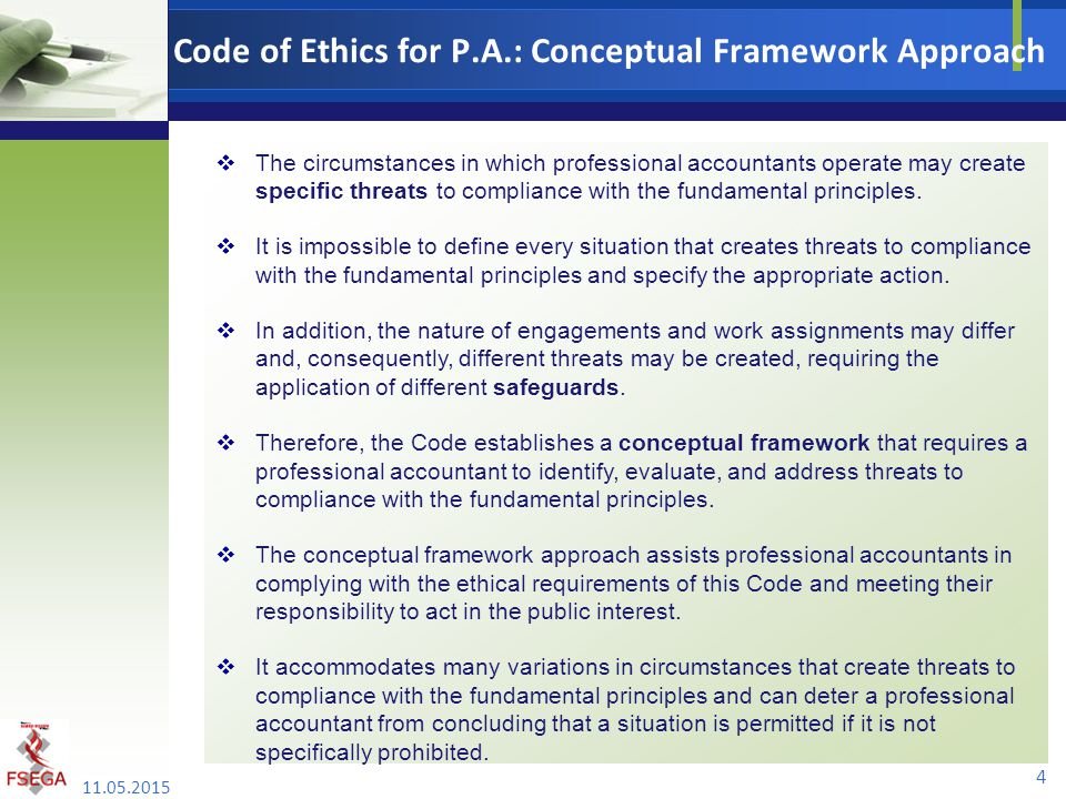 Code of Ethics for P.A.: Conceptual Framework Approach