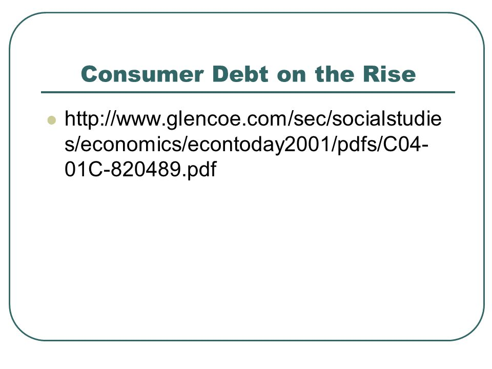 Consumer Debt on the Rise