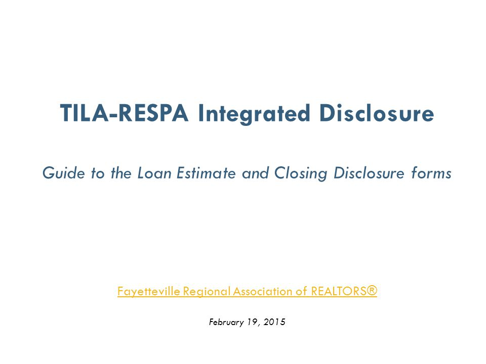 tilarespa integrated disclosure trid tilarespa integrated disclosure trid study guide and sample questions