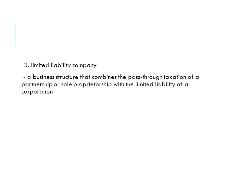 3. limited liability company