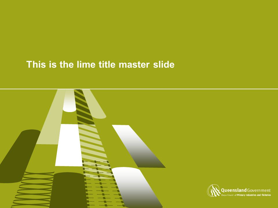 This is the lime title master slide