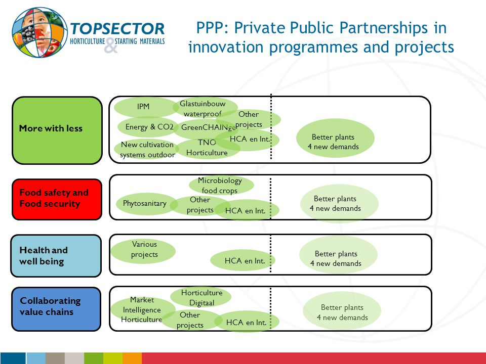PPP: Private Public Partnerships in innovation programmes and projects