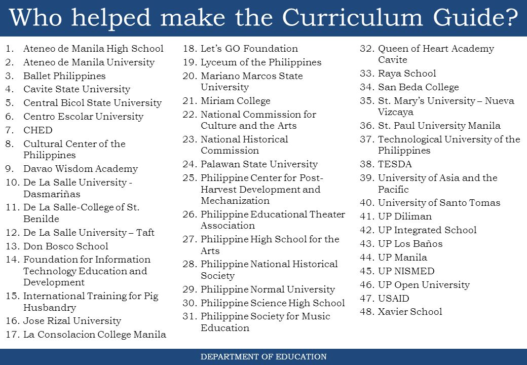 The K to 12 Curriculum Good day, everyone! I'm glad to have all of